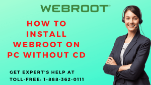 How to install Webroot on PC without CD
