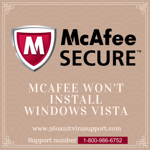 McAfee won't install windows vista