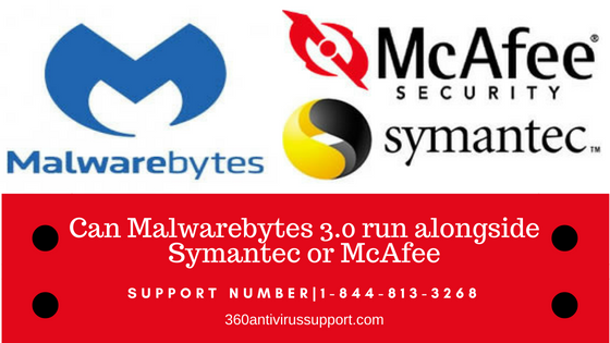 Can Malwarebytes 3.0 run alongside Symantec or McAfee