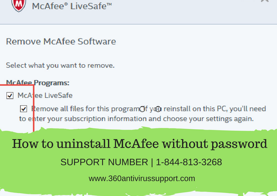 Fixed] How to uninstall McAfee without password | Call @ 1-800-986-6752