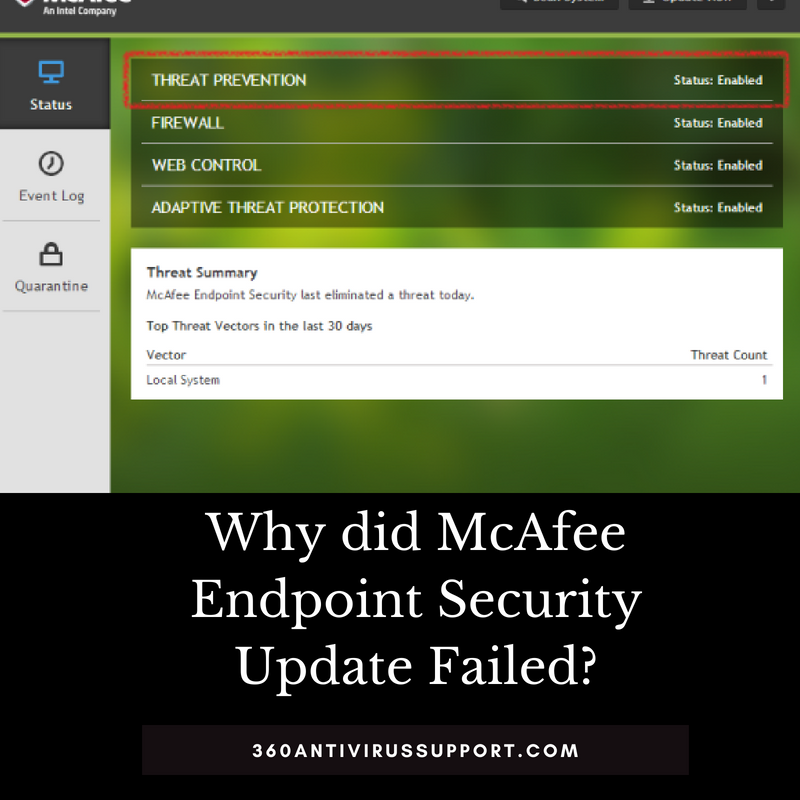 Fixed] Why did McAfee Endpoint Security Update Failed