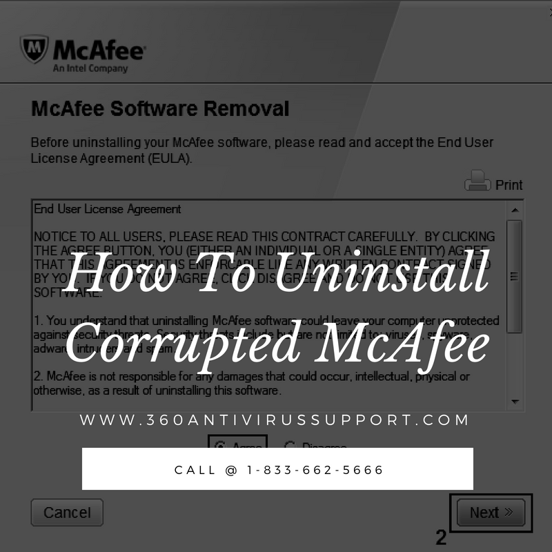 Uninstall Corrupted McAfee