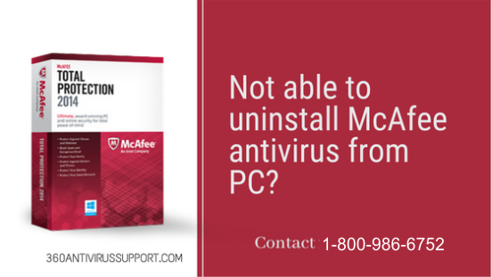 Not able to uninstall McAfee antivirus from pc?