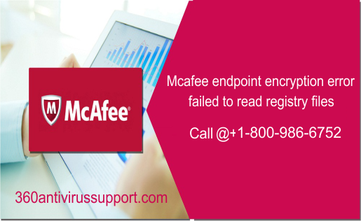 Mcafee endpoint encryption error failed to read registry files