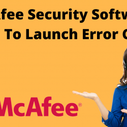 McAfee security software failed to launch error code 1