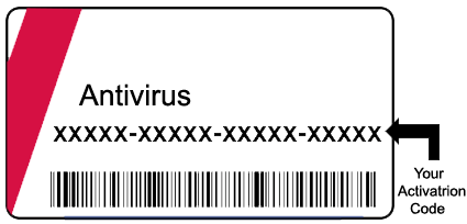 Activate McAfee anti-virus with a retail card
