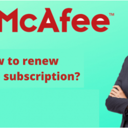 How to renew McAfee subscription