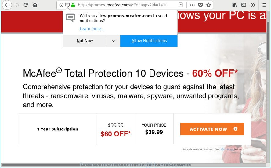 how to get rid of McAfee pop-up